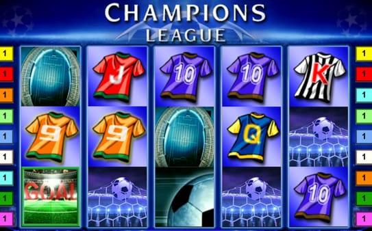 Выигрышная комбинация символов в автомате Champions League