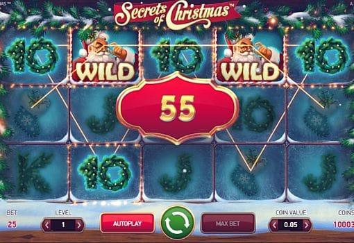 Выигрышная комбинация на линии в автомате Secrets of Christmas
