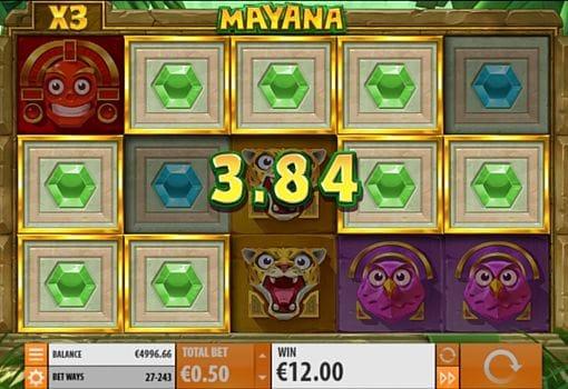 Призовая комбинация на линии в игровом автомате Mayana