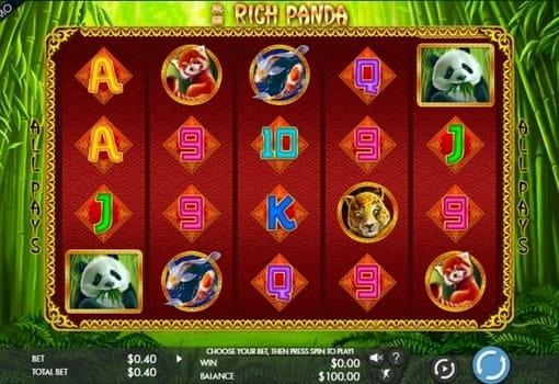 Игровой автомат с реальным выводом денег - Rich Panda