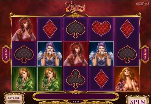 Игровые автоматы на реальные деньги с выводом - 7 Sins