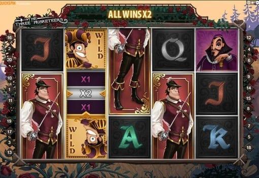 Игровые автоматы с реальным выводом денег — The Three Musketeers