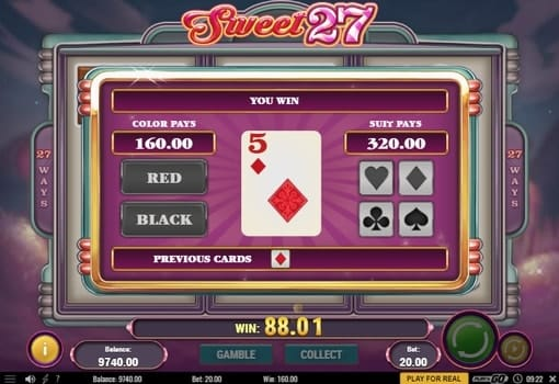 Риск игра в онлайн аппарате Sweet 27