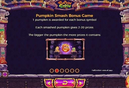 Бонусная игра в слоте Pumpkin Smash